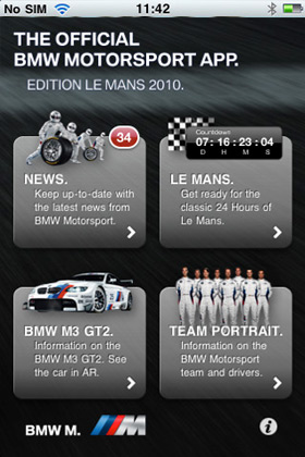 BMW Motosport App Edition Le Mans 2010