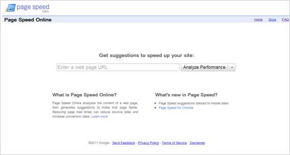 Diagnose Your Site Speed With Page Speed Online