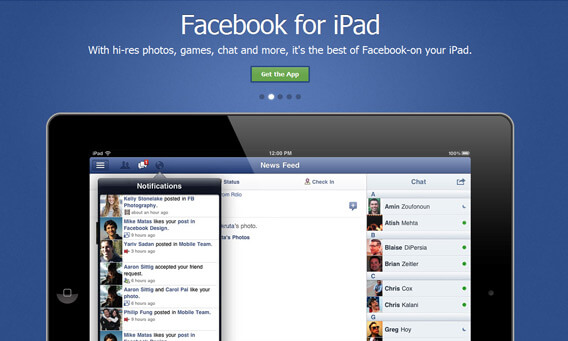 Facebook Application For iPad