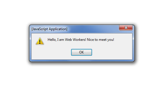 Say Hello to HTML5 Web Worker