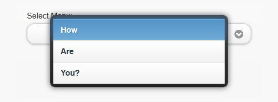 Custom-styled select menus