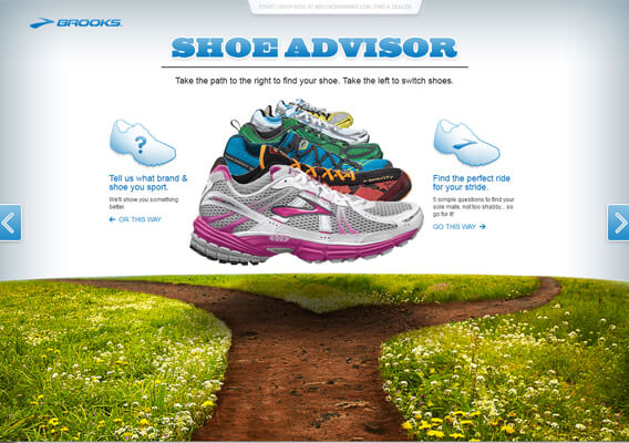 Brooks Shoe Advisor Home Page