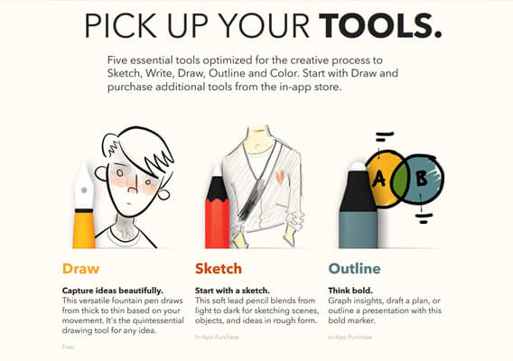 FiftyThree Product Features Page