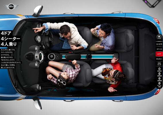 Mini Cooper Product Feature Page