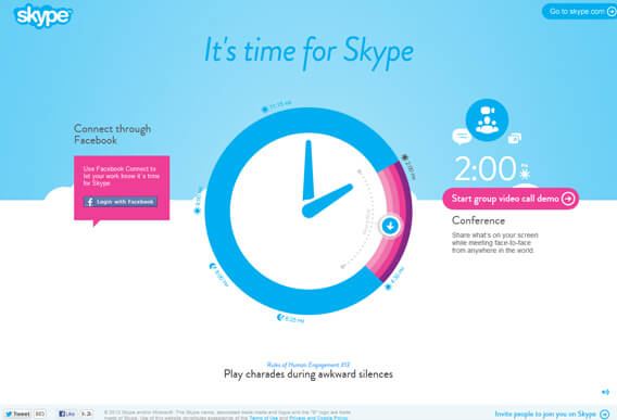 It's Time For Skype Home Page