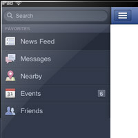 Create Facebook App Style Slide-Out Navigation