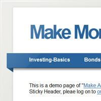 Make A jQuery Sticky Header In 5 Minutes