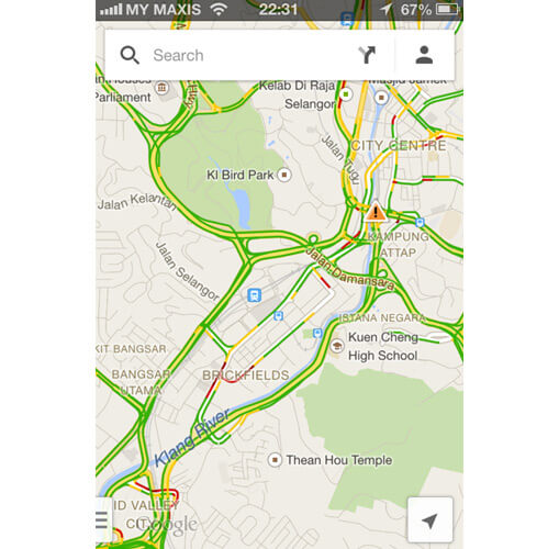 iOS Google Map with traffic view