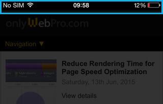 Web App Status Bar Style